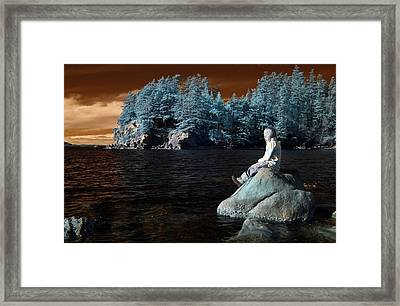 Framed Print featuring the photograph Reflecting The Day by Rebecca Parker