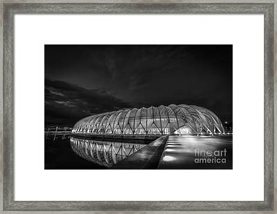 Reflecting The Future-bw Framed Print