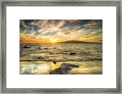 Reflecting The Glory Framed Print by Kunal Mehra
