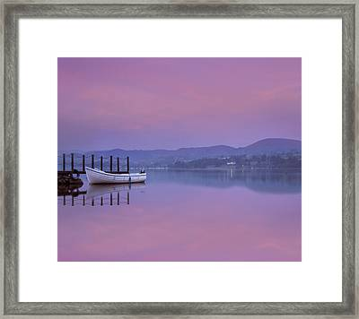 Reflecting The Morning Stillness Framed Print by Adrian Campfield