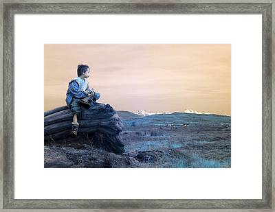 Reflecting Thoughts Framed Print