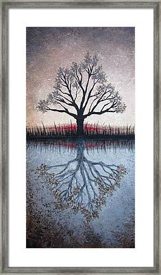 Framed Print featuring the painting Reflecting Tree by Janet King