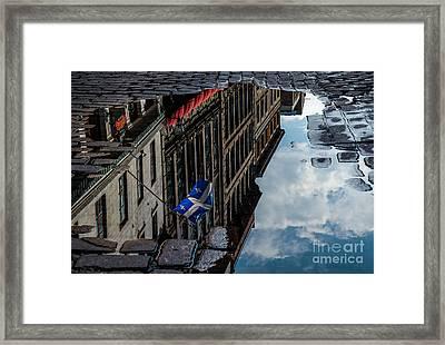 Reflecting Upon Quebec Framed Print