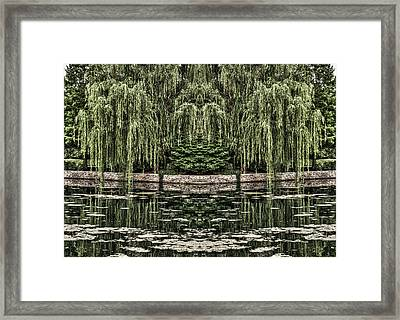 Framed Print featuring the photograph Reflecting Willows by Rebecca Hiatt