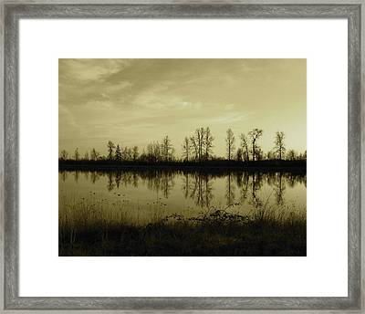 Reflection - Ankeny Wildlife Refuge Framed Print
