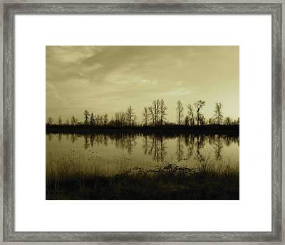 Reflection - Ankeny Wildlife Refuge Framed Print