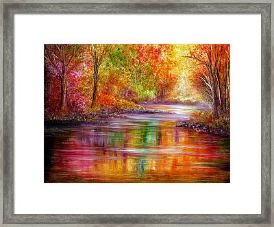 Reflection Framed Print by Ann Marie Bone