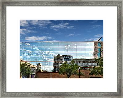 Reflection At Kentucky Performing Art Center Framed Print by Frank J Benz