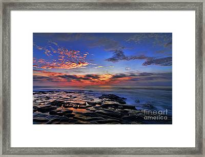 Sunset At Tide Pools At La Jolla Framed Print