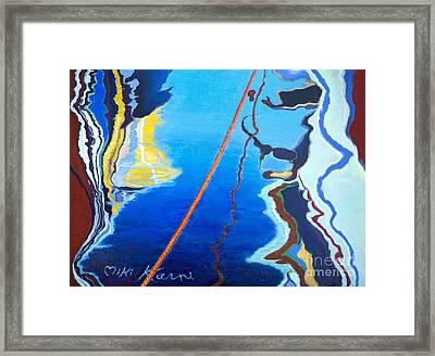 Reflection At The Marina Framed Print