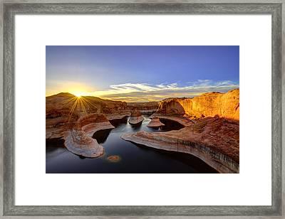 Reflection Canyon Sunrise Framed Print by Dustin  LeFevre