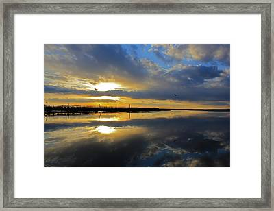 Framed Print featuring the photograph Reflection Grays Beach Boardwalk by Amazing Jules