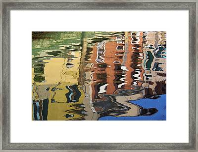 Reflection In A Venician Canal Framed Print