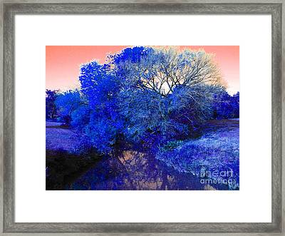 Reflection In Blue Framed Print