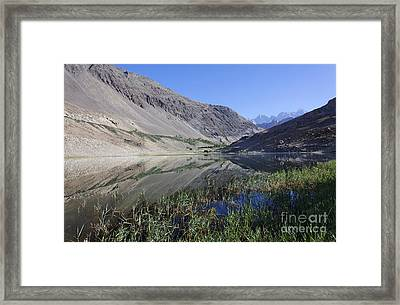 Reflection In Borith Lake Framed Print by Robert Preston