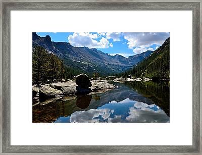 Reflection In Mills Lake Framed Print