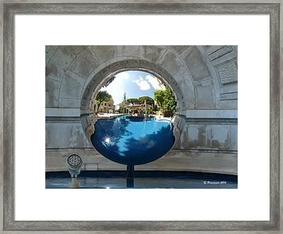 Reflection In Monoco Framed Print by Hemu Aggarwal