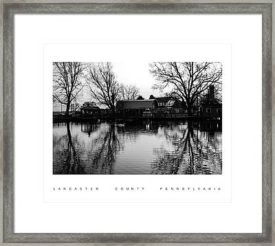 Reflection In The Pond Framed Print