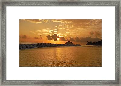 Reflection In The Sand 3 Framed Print by Bill Reynolds