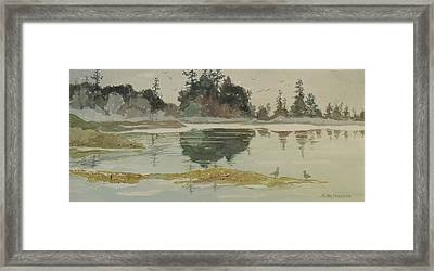 Framed Print featuring the painting Reflection by John  Svenson