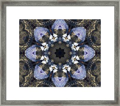 Reflection - Kaleidoscope Art Framed Print