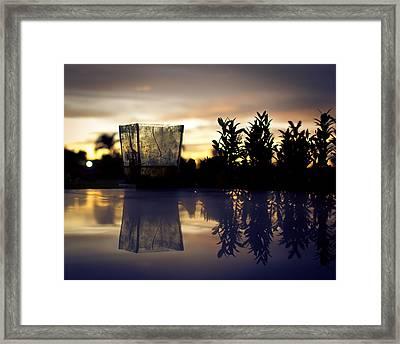 Reflection Framed Print by Kingsley  Gicalde