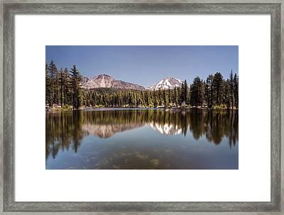 Reflection Lake Lassen National Park Framed Print