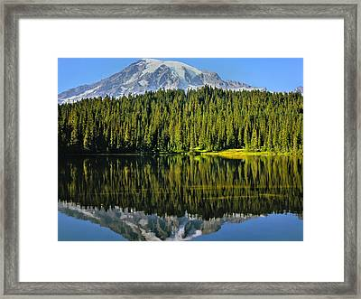 Framed Print featuring the photograph Reflection Lake Mount Rainier by Matthew Ahola