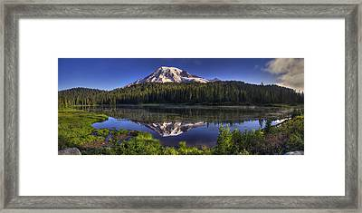 Reflection Lake Panorama Framed Print