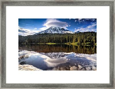 Reflection Lakes Sunset Framed Print