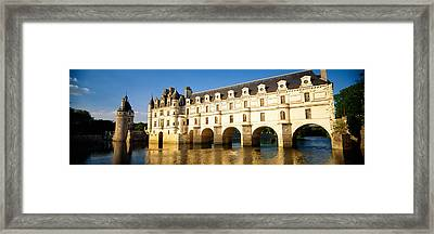 Reflection Of A Castle In Water Framed Print