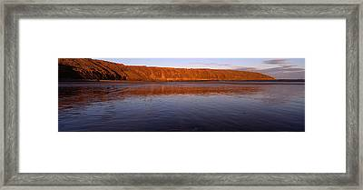 Reflection Of A Hill In Water, Filey Framed Print by Panoramic Images