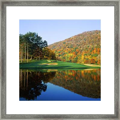 Reflection Of A Hill On Water, West Framed Print by Panoramic Images