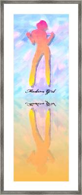 Reflection Of A Modern Girl In Abstract Oil Framed Print by Tommytechno Sweden