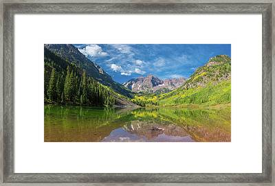 Reflection Of A Mountain On Water Framed Print
