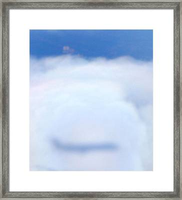 Reflection Of An Airplane Framed Print