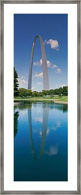 Reflection Of An Arch Structure Framed Print by Panoramic Images
