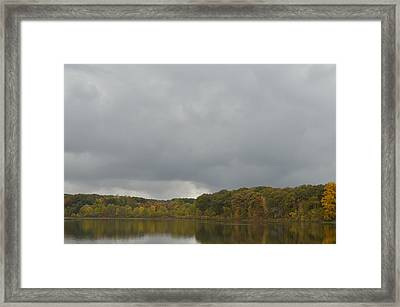 Reflection Of Autumn Framed Print by Cim Paddock