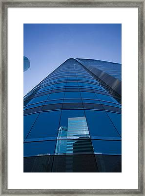 Reflection Of Buildings On A Stock Framed Print