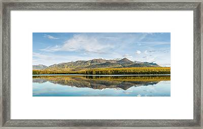 Reflection Of Chugach Mountains Framed Print