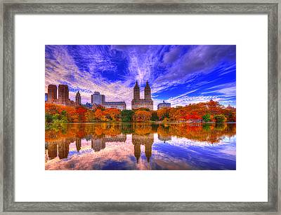 Reflection Of City Framed Print
