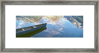 Reflection Of Clouds And Teton Range Framed Print by Panoramic Images