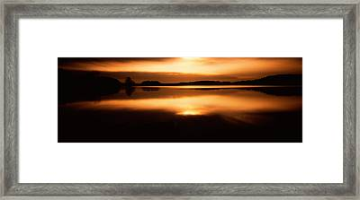 Reflection Of Clouds In A Lake, Loch Framed Print by Panoramic Images