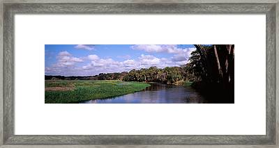 Reflection Of Clouds In A River, Myakka Framed Print