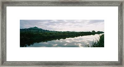 Reflection Of Clouds In The River Framed Print