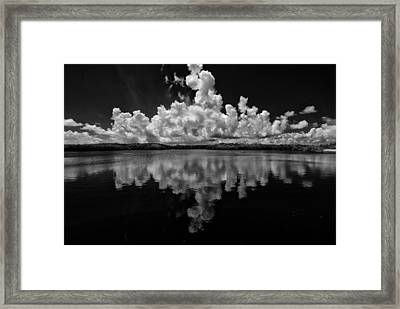 Reflection Of Clouds Framed Print