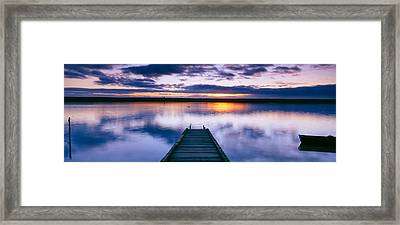 Reflection Of Clouds On Water, Chesil Framed Print by Panoramic Images