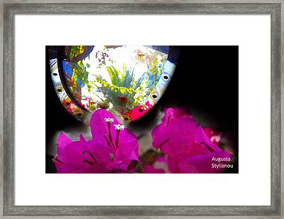 Reflection Of Exotic Scene Framed Print by Augusta Stylianou