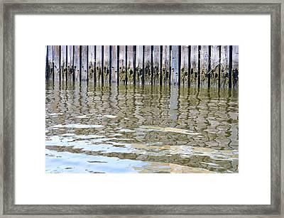 Reflection Of Fence  Framed Print by Sonali Gangane