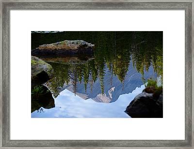Reflection Of Longs Peak Framed Print